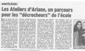 Raccrochage scolaire : les Ateliers d'Ariane